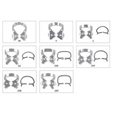 Fit Rubberdam Bicuspid Clamps with wings