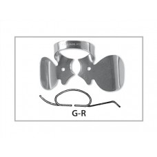 Fit Rubberdam Gauze Clamps with cotton roll holder L, R, setti (2 kpl)